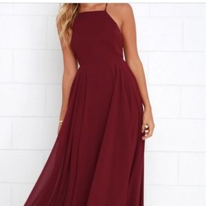 Wine Red Maxi Dress